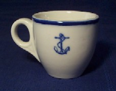 wardroom officer blue fouled anchor, naval china
