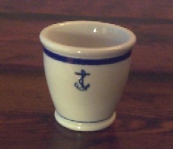 usn navy egg cup, single ended anchor
