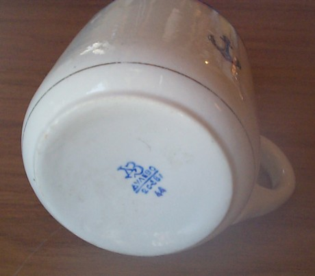 ww2 russian navy officer's mug bottom