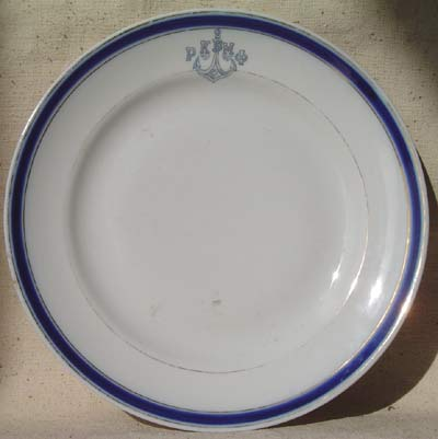 ca 1920's-1946 ww2 russian navy dinner plate