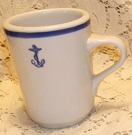 special rare hot chocolate or coffee cup, anchor
