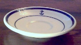 demitasse saucer, anchor