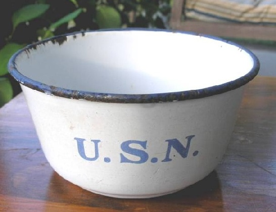US Navy Enlisted Porcelain bowl ca late 1860's to early 1890