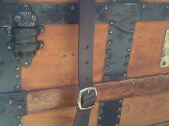 Pirate Chests Sea Chest #95 showing leather strap