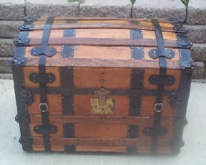 completed restoration of a Pirate Treasure Chest
