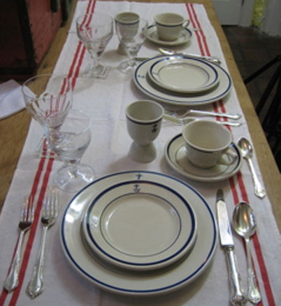Wardroom Officer US Navy Dinnerware, Nautical Antique ...
